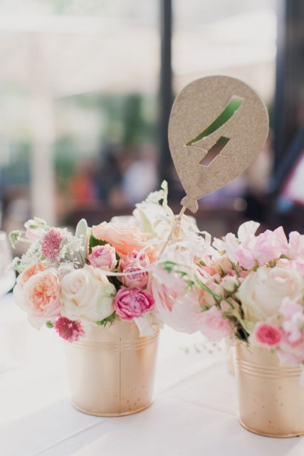 Adorable table centerpiece for elegant weddings