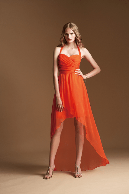 20 Eye-Catching Orange Bridesmaid Dress Ideas For Fall Weddings ...