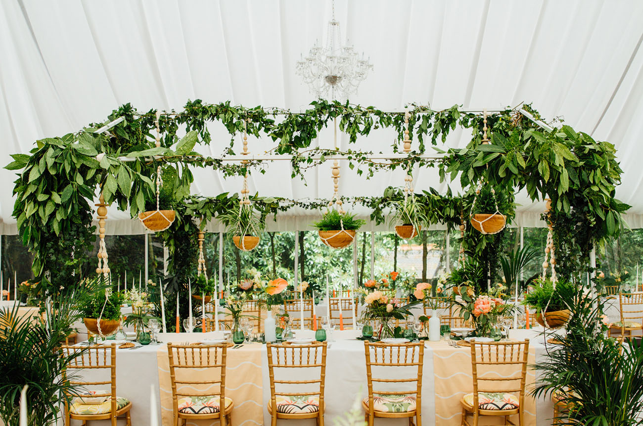 Picture Of Amazing Tropical Inspired Wedding In The English Countryside 12
