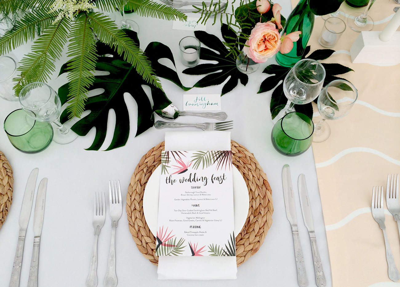 Picture Of Amazing Tropical Inspired Wedding In The English Countryside 14
