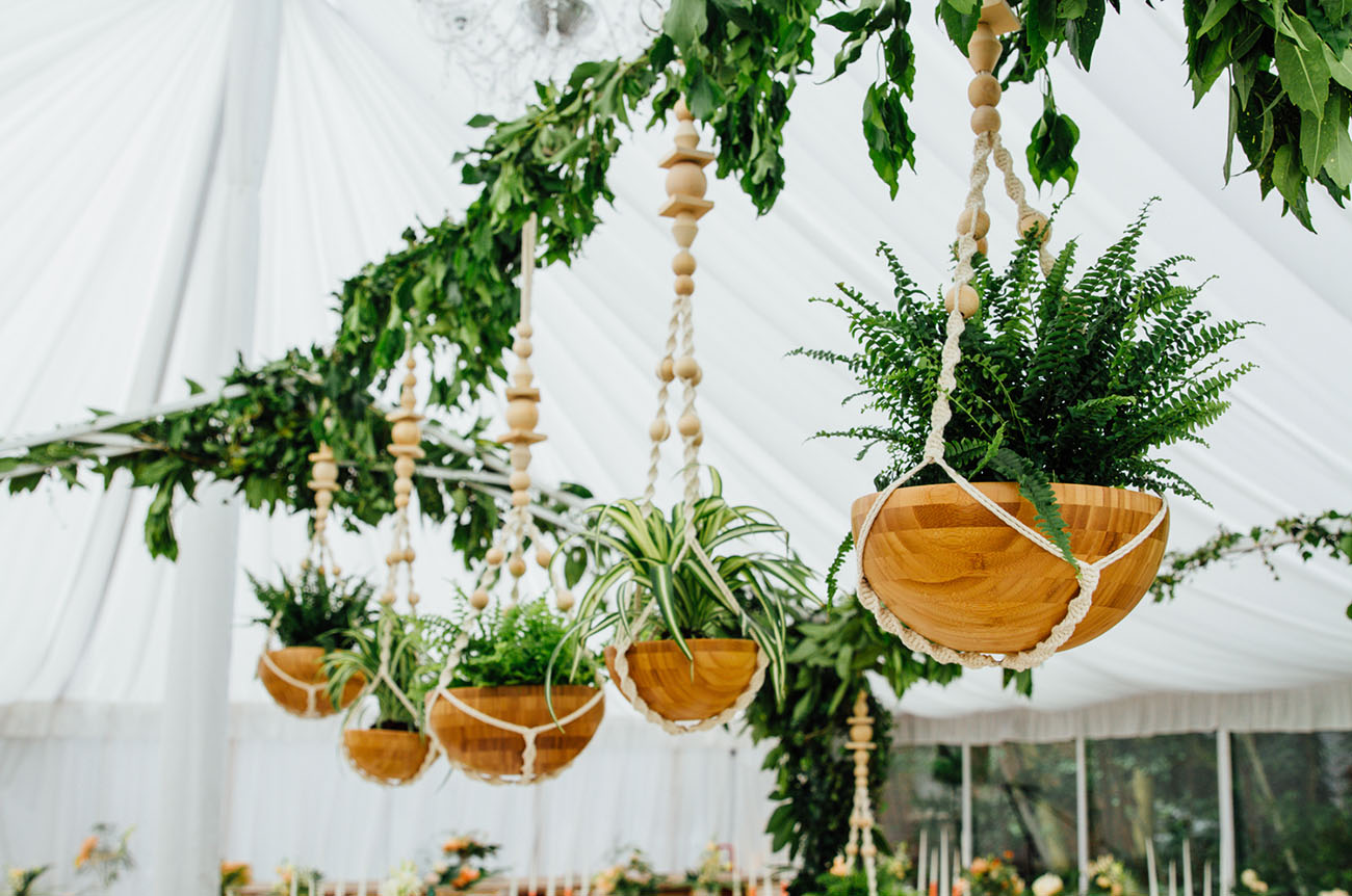 Picture Of Amazing Tropical Inspired Wedding In The English Countryside 15