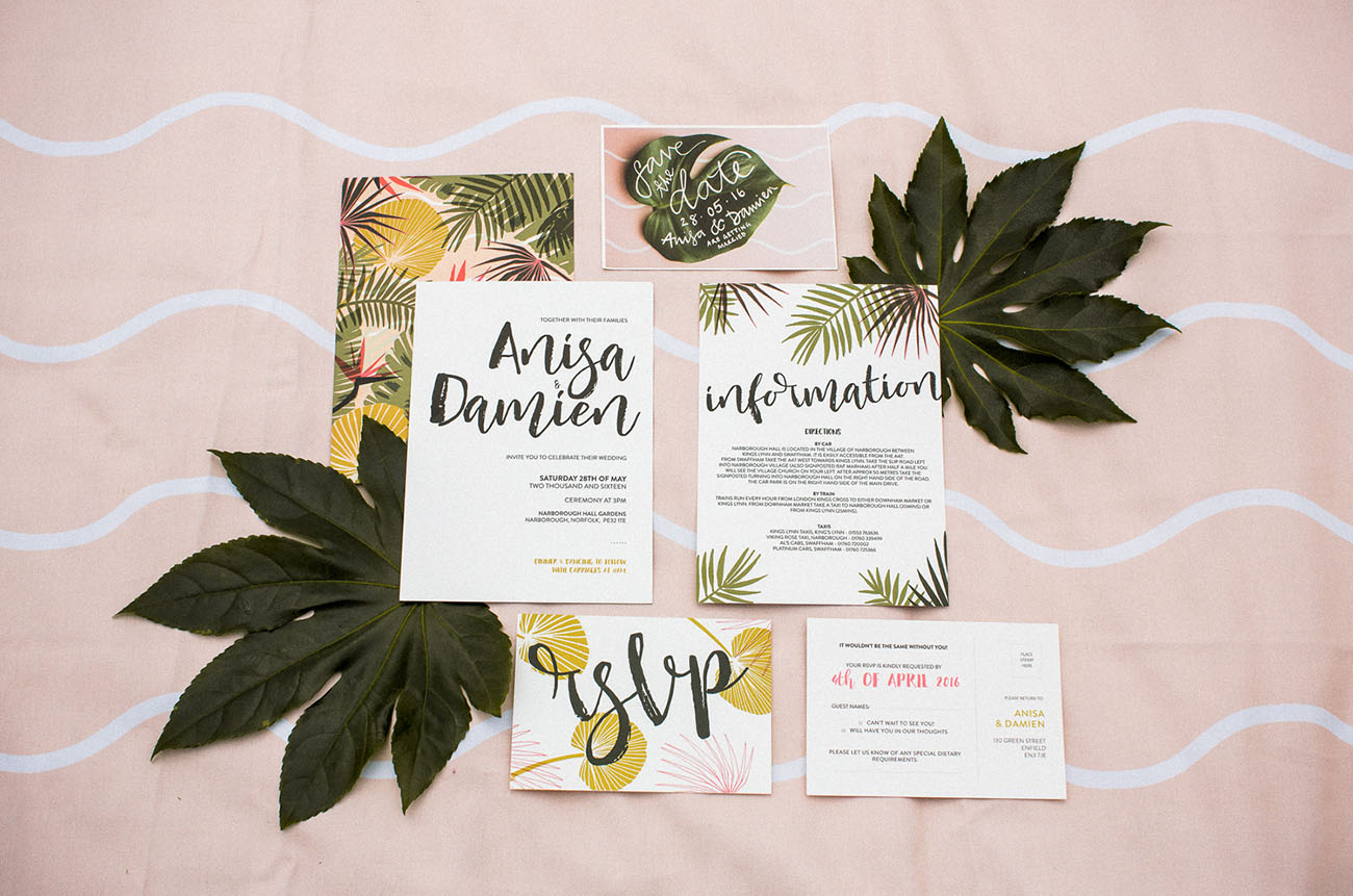 Picture Of Amazing Tropical Inspired Wedding In The English Countryside 2
