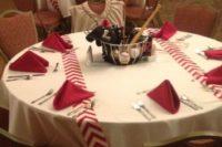 Baseball themed tablecloths for wedding day
