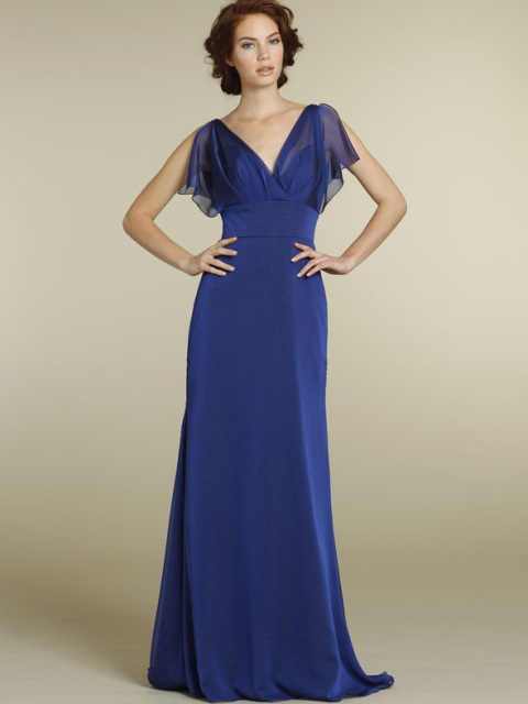 Beautiful and simple chiffon maxi dress
