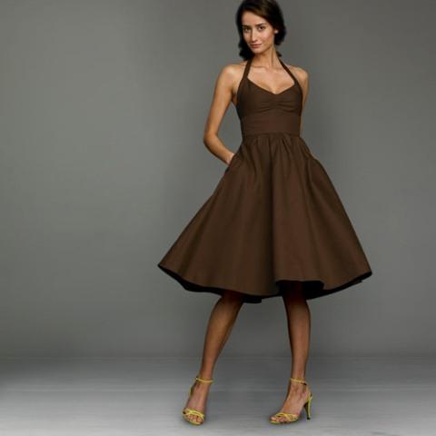 20 Chic Chocolate Brown Bridesmaid Dress Ideas - Weddingomania