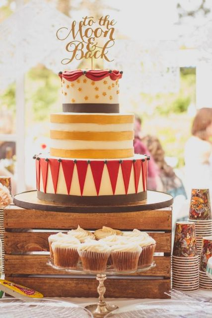 Cute three tiered wedding cake