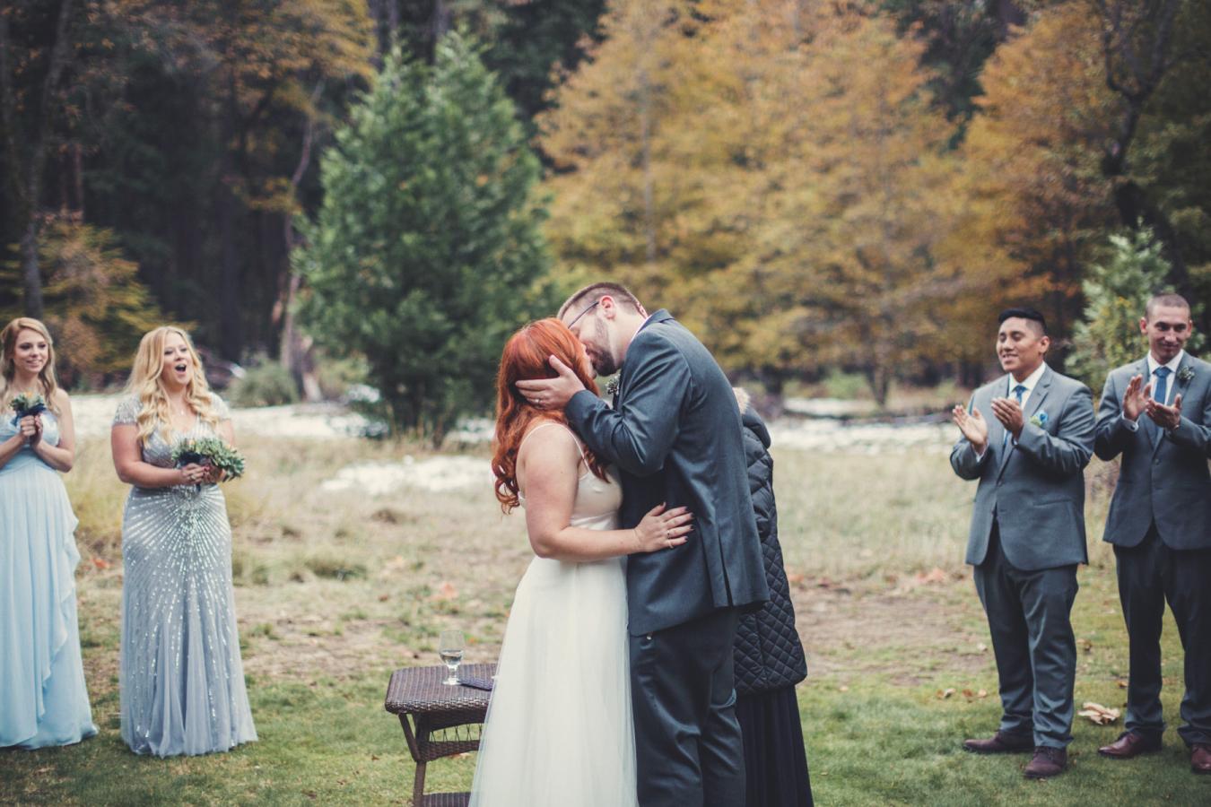 Picture Of Gentle Woodland Wedding In Yosemite 7