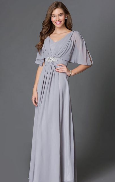 20 Touching Flutter Sleeve Bridesmaid Dress Ideas