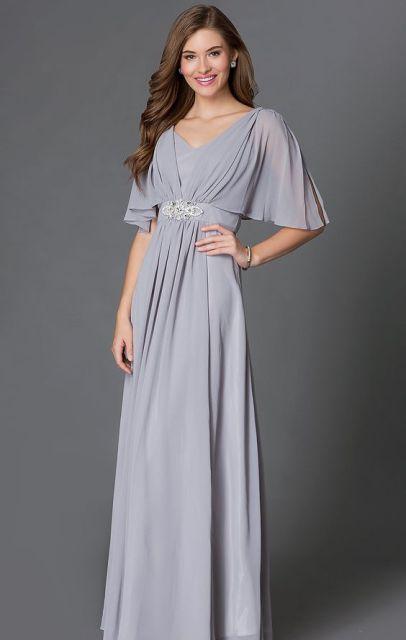 20 Touching Flutter Sleeve Bridesmaid Dress Ideas