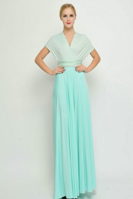 Gentle maxi two color dress
