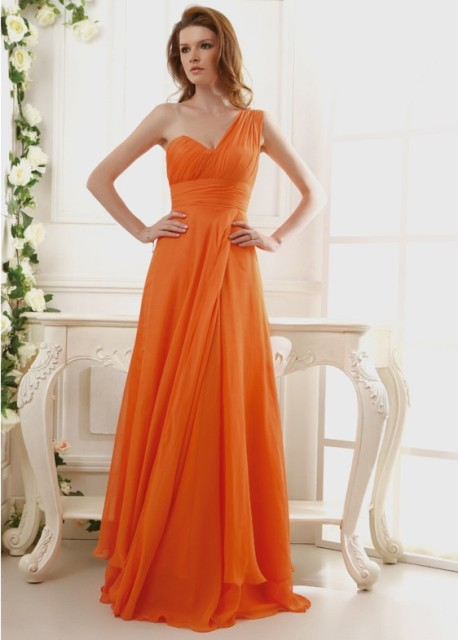 Gorgeous one shoulder chiffon dress