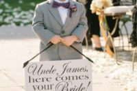Gray suit for a ring bearer