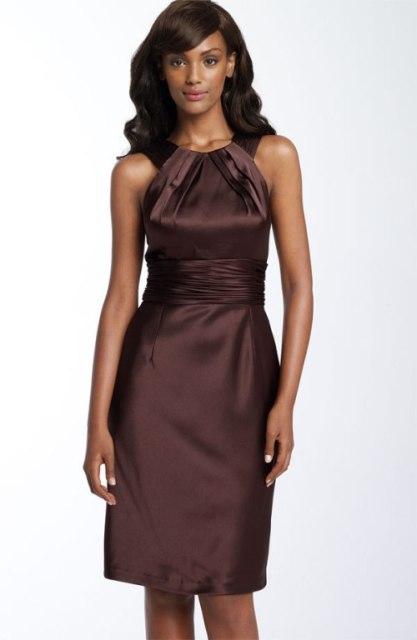 20 Chic Chocolate Brown Bridesmaid Dress Ideas Weddingomania