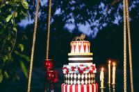 Incredible cake for circus themed wedding
