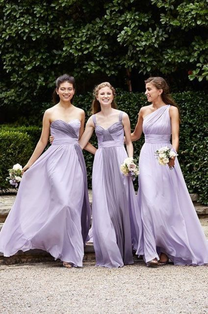 Wedding Dresses Maid Of Honor 96 Trend Light lilac and gray