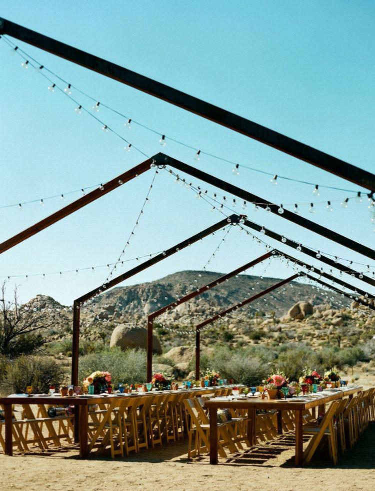 Retro Styled Desert Wedding In Joshua Tree