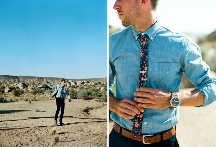 Retro Styled Desert Wedding In Joshua Tree