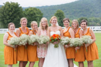 Ruffle dresses for your bridesmaids