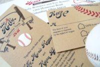 Simple cardboard wedding invitations