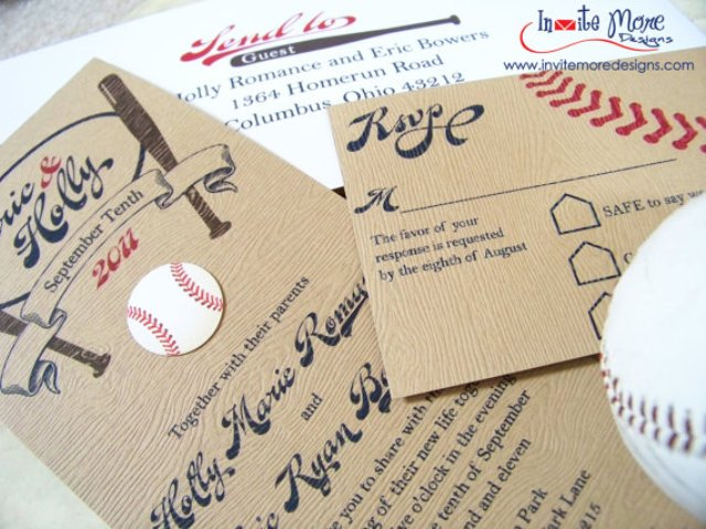 Simple cardboard wedding invitations
