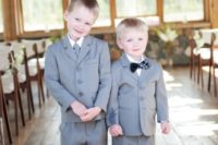 Simple gray suits for boys