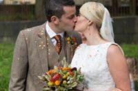 Wonderful Burnt Orange Fall Wedding In England 4
