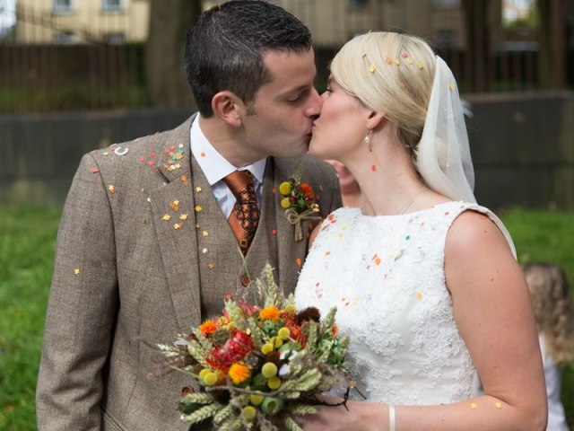 Wonderful Burnt Orange Fall Wedding In England