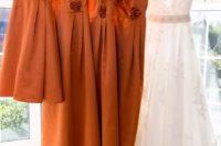 Wonderful Burnt Orange Fall Wedding In England 5