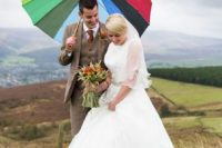 Wonderful Burnt Orange Fall Wedding In England