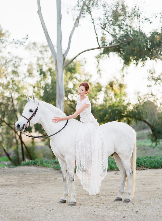 Jewel-Toned Equestrian Fall Wedding Shoot