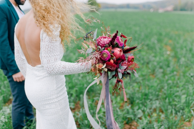 Intimate Boho Chic Wedding In The Late Summer