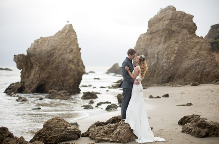 This beach wedding shoot with beautiful boho chic touches was shot in Malibu