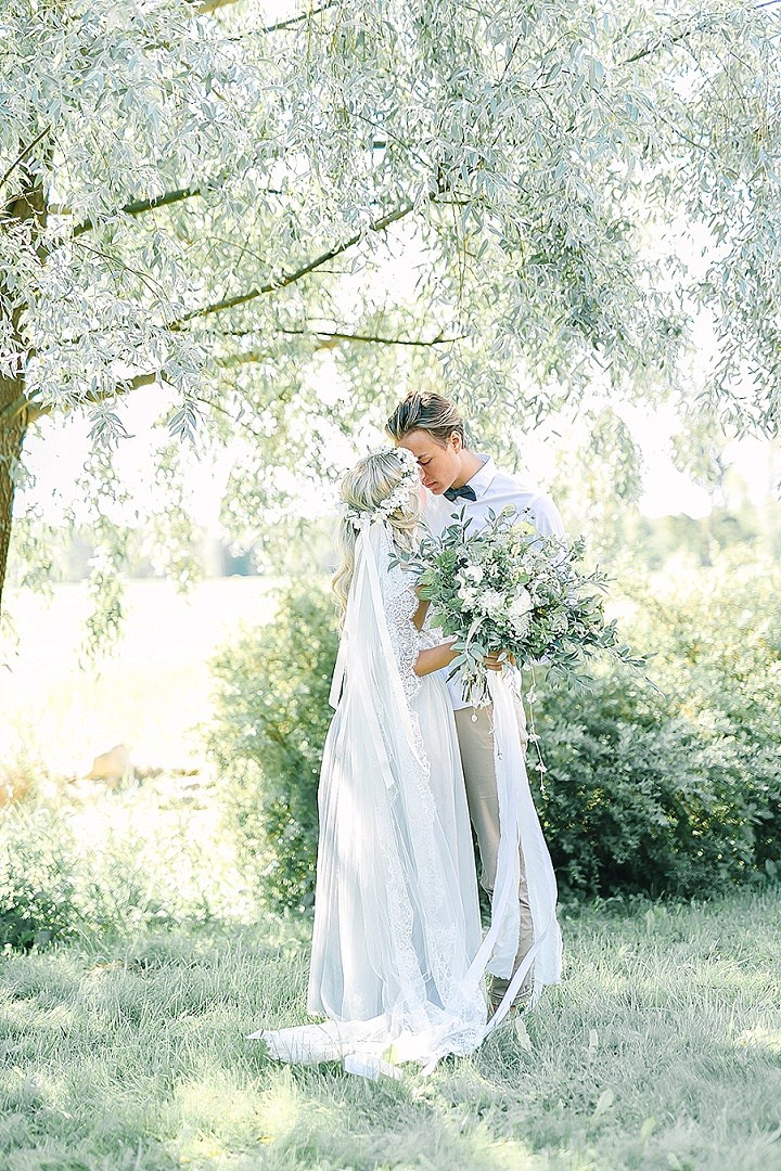 This beautiful garden wedding shoot took place in Sweden