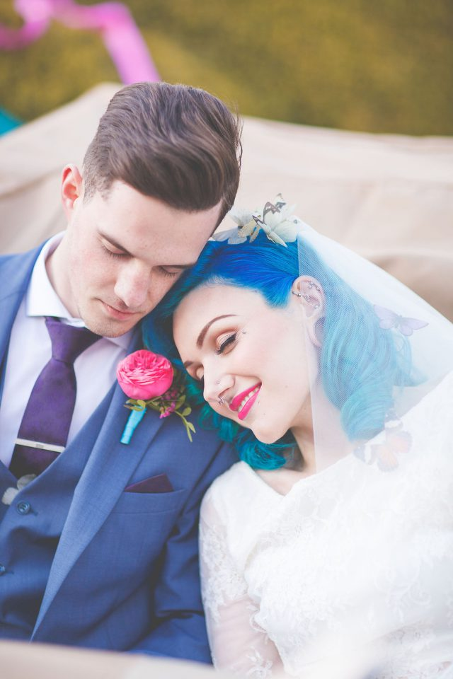 Colorful Retro-Inspired Wedding Shoot