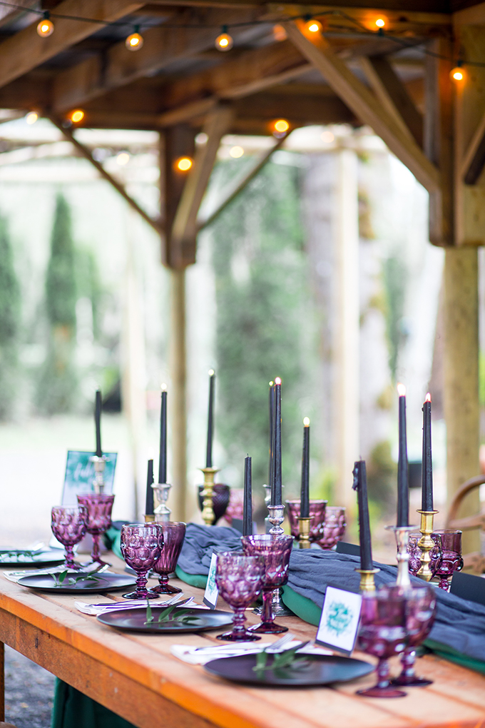 The moody fall table showed that flowers aren't necessary to make decor dramatic