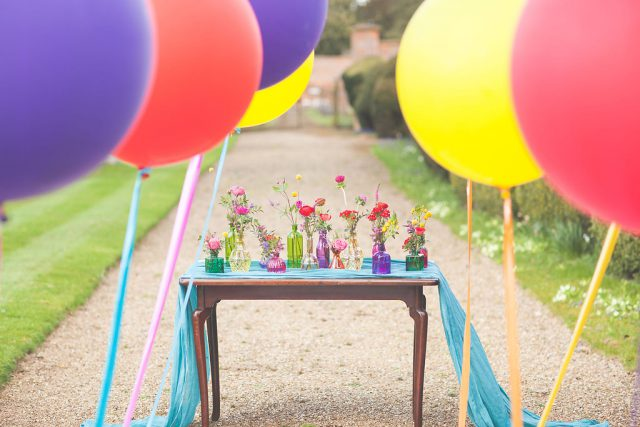 All the details were taken colorful and bold to keep the shoot striking