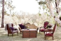 03 The reception is done in jewel tones and with elegant vintage touches