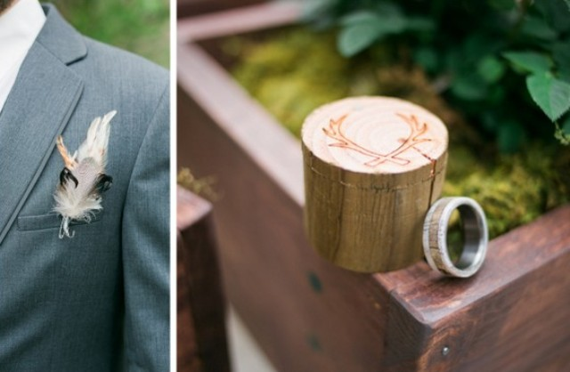 Various rustic touches added coziness to the wedding