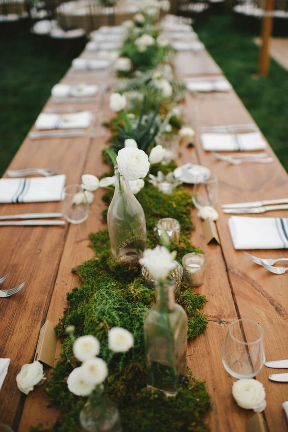 Moss Candle Centerpiece : Budget friendly moss wedding décor ideas weddingomania