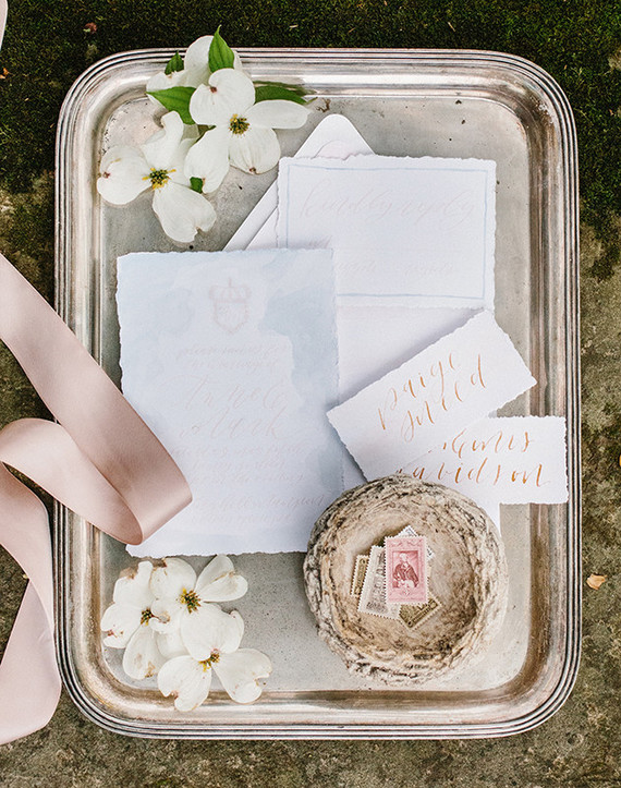 The color scheme was subtle. Cream, pink, blush and dusty pink