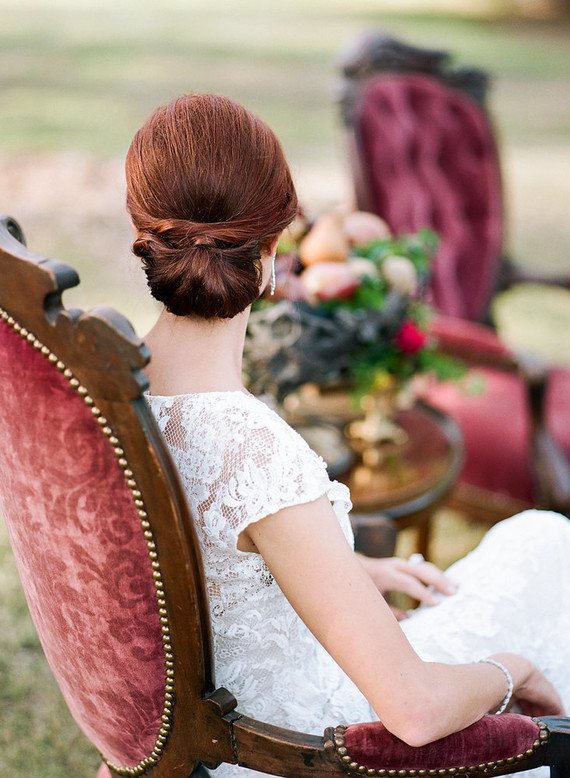 an elegant updo is right what the bride needs to complete the elegant look
