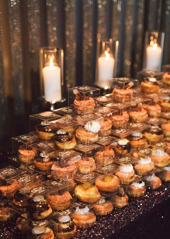 donuts are an awesome and cozy ideas suitable for all wedding styles and themes