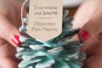 05 pinecone fire starters as wedding favors