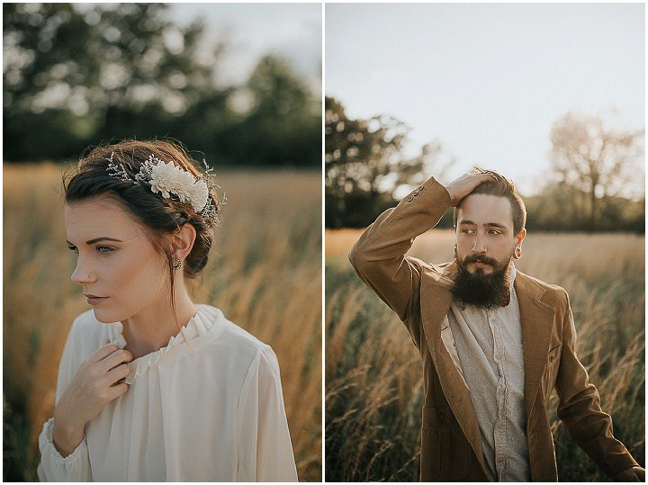 Both guys nailed their 30s and 40s inspired looks and the groom brought a fresh hipster touch