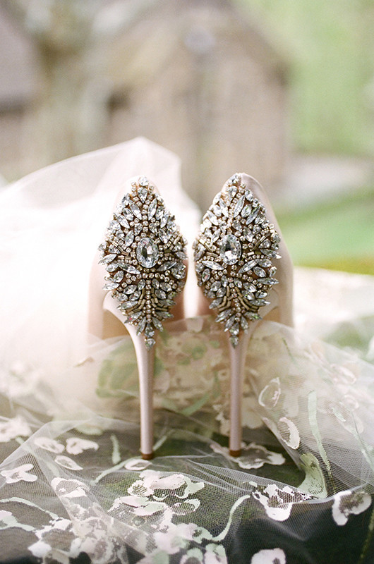 65a275b1189 Picture Of Jeweled heels in blush are a great addition to the princess  styled look