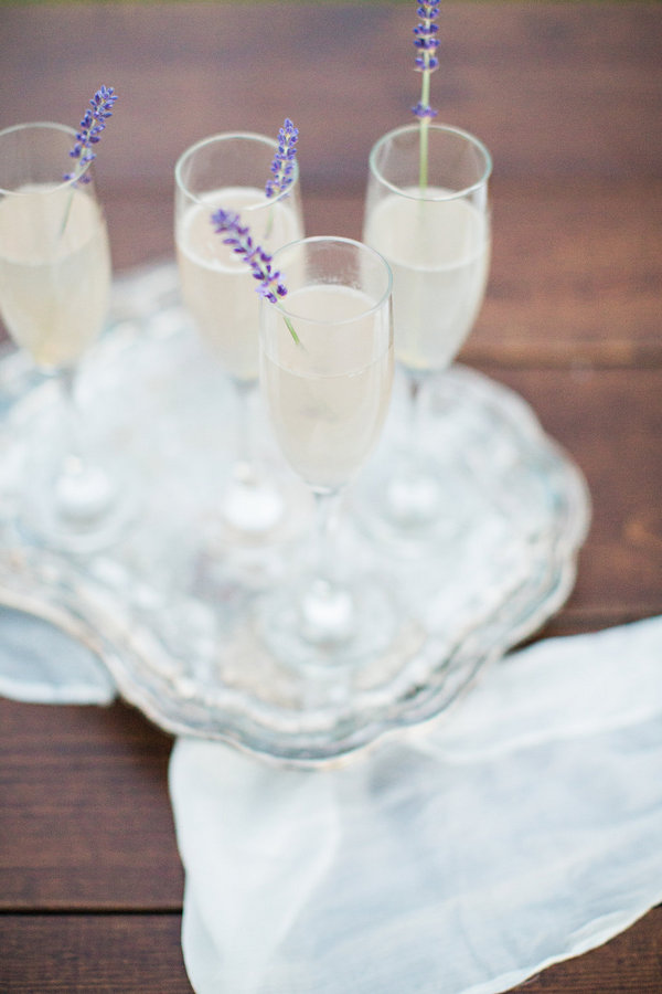Lavender was used instead of drink stirrers