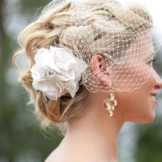 Wedding Hairstyle Updo Veil: 36 Beautiful Hairstyles To Rock With Veils