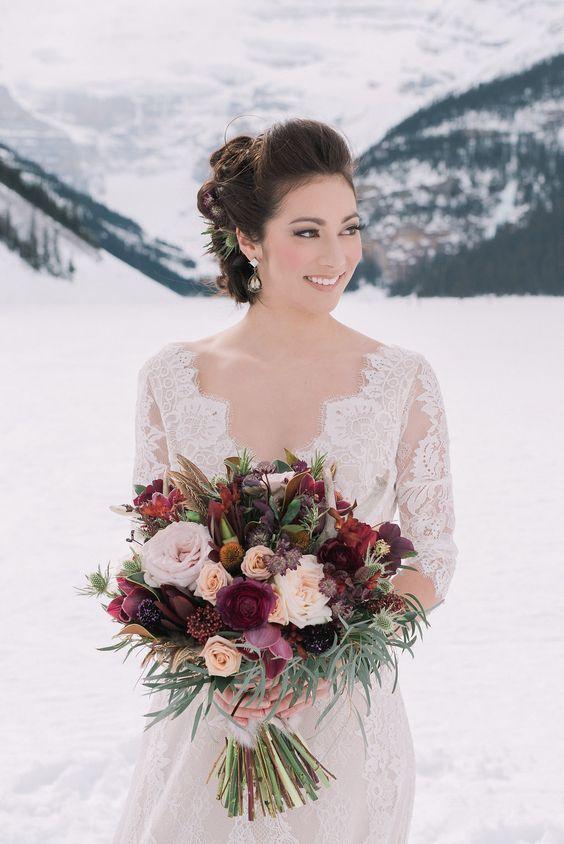 Makeup For Winter Wedding Guest : 5 Winter Wedding Hair Tips And 34 Examples - Weddingomania