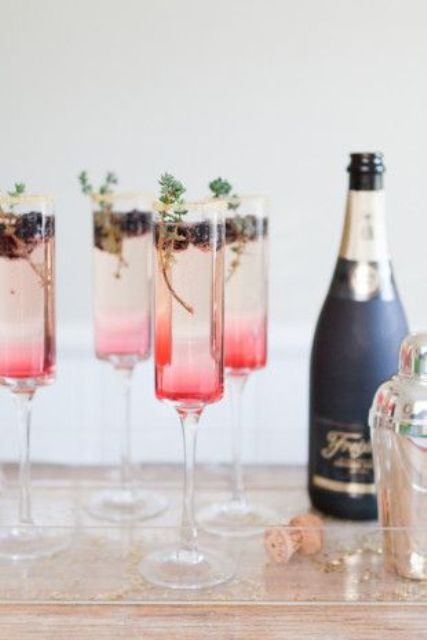 cool champagne countdown cocktails to have in hand for New Year