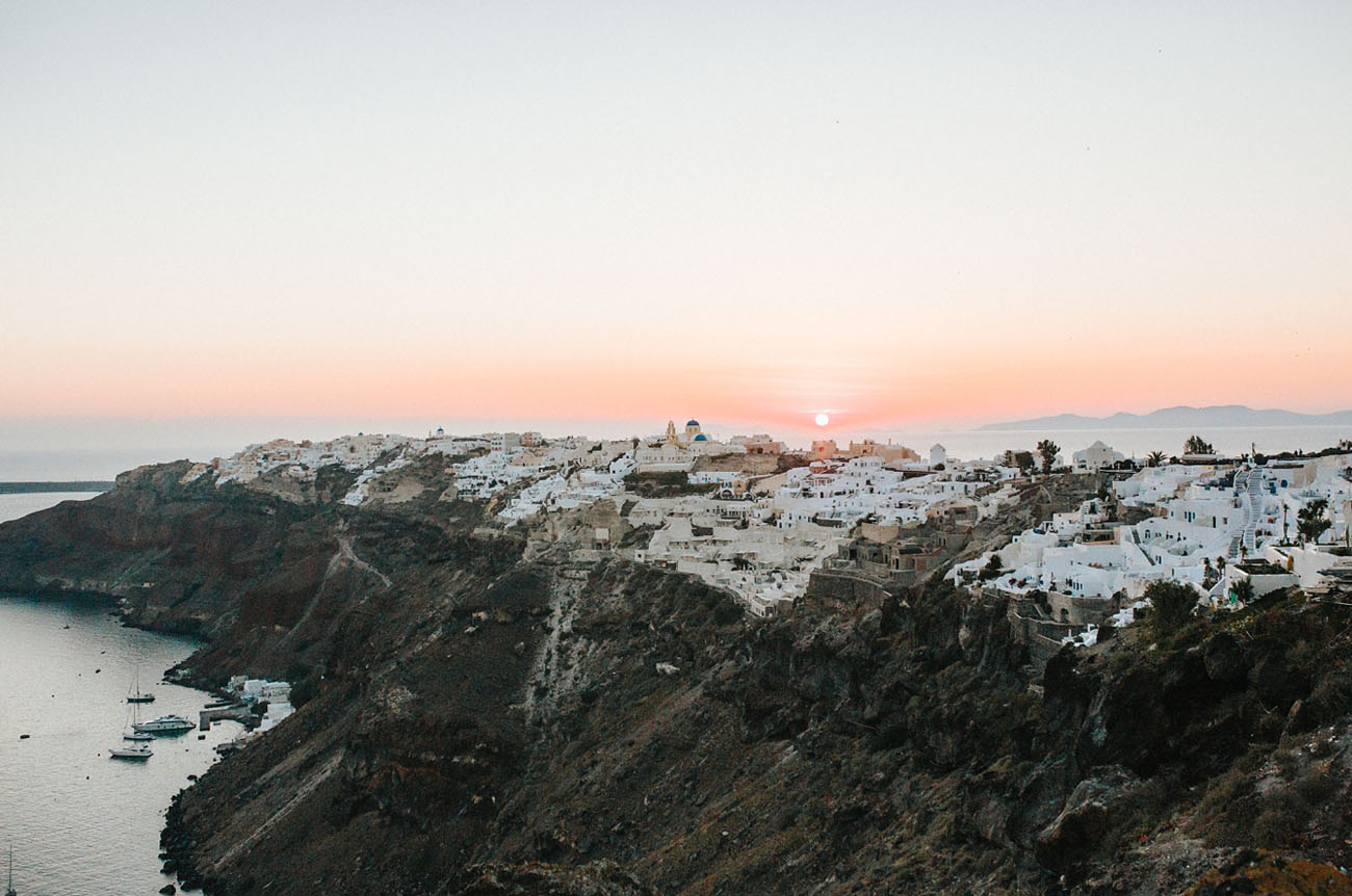 Beautiful nature of Santorini became a great backdrop for this wedding
